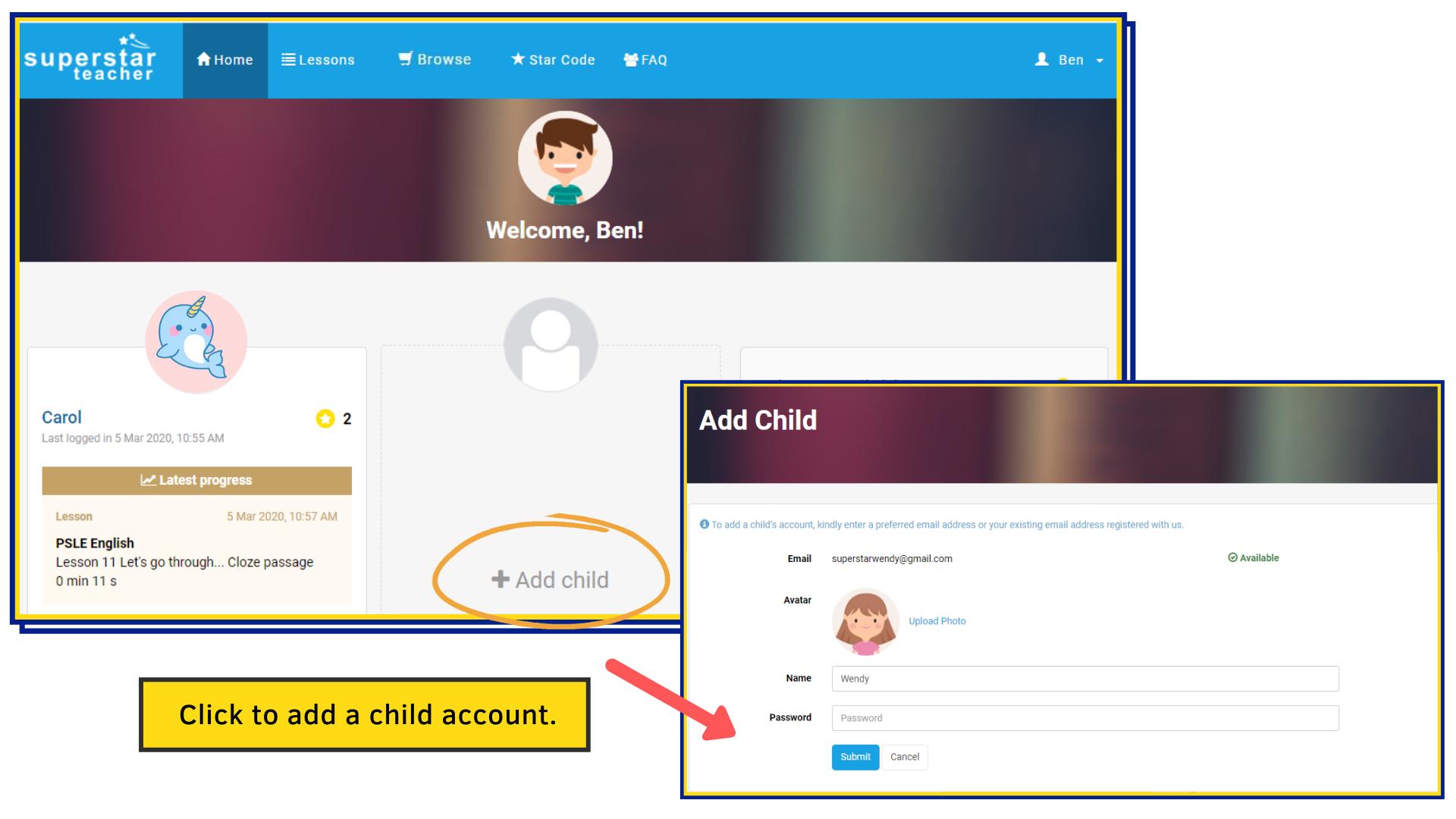 Superstar Teacher-Parent's Portal